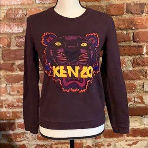Kenzo sweatshirt burgundy. Tiger logo USM